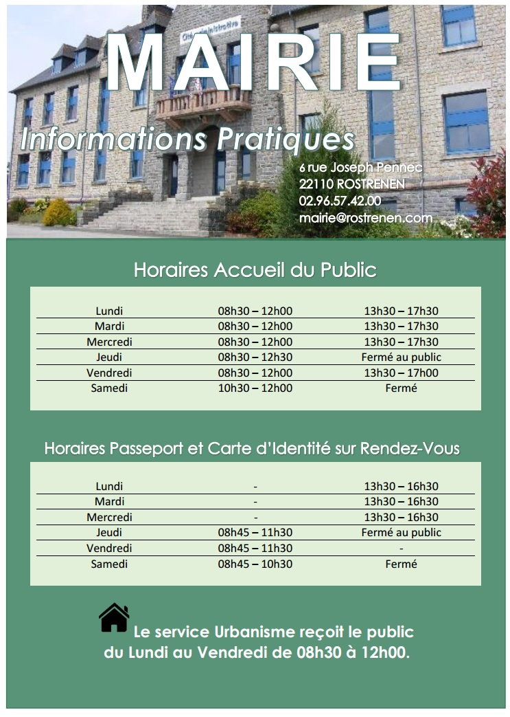 mairie horaires